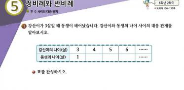 6학년 2학기 5단원 수학익힘책 73쪽 1번 문제