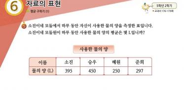 5학년 2학기 6단원 수학익힘책 102쪽 5번 문제