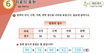 5학년 2학기 6단원 수학익힘책 101쪽 1번 문제