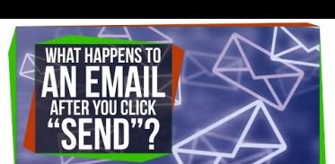 """당신이 """"송신"""" 버튼을 누른 후에 이메일에 어떤 일이 일어날까?"""