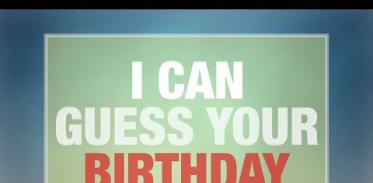 나는 당신의 생일을 맞힐 수 있다!