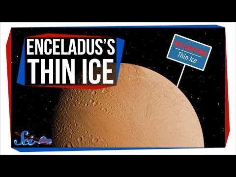 엔셀라두스의 매우 얇은 얼음