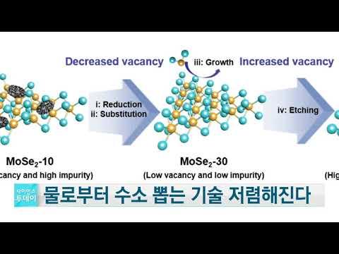 [사이언스TV] 물로부터 수소 뽑는 기술, 저렴해진다