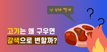 고기는 왜 구우면 갈색으로 변할까?
